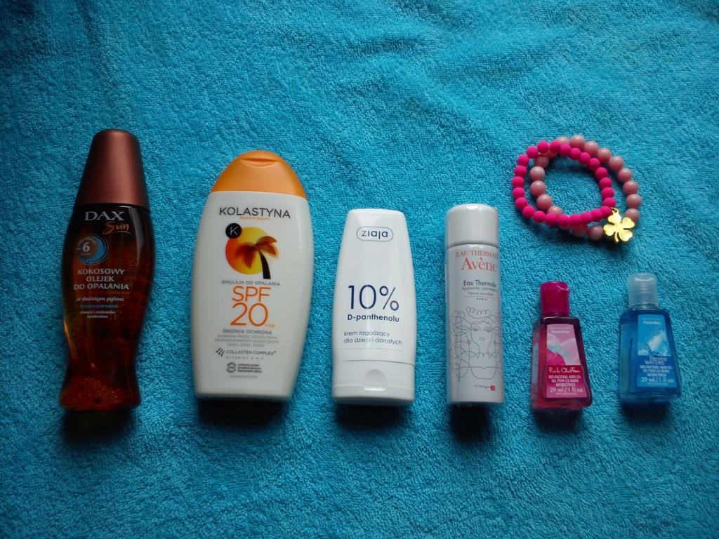 kosmetyki na plażę