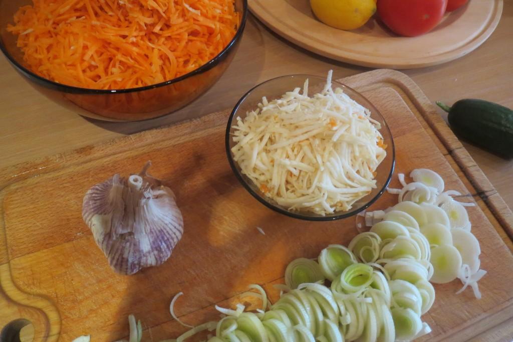 warzywa w miseczkach