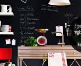 5 pomysłów na wykorzystanie farby tablicowej we wnętrzach