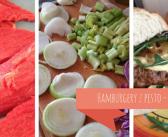 Hamburgery z zielonym pesto z selera naciowego