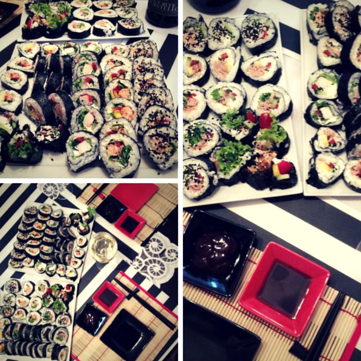 sushi z lososiem