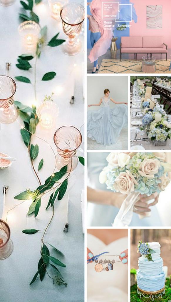 niebieski kolor przewodni na wesele