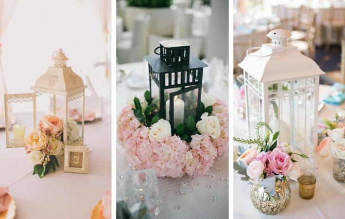 latarenki na stół weselny